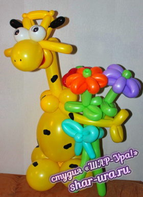 жираф и шаров