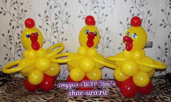 цыпленок из шаров