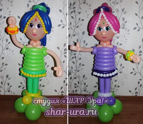 джинны Шиммер и Шайн из шаров