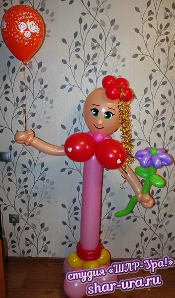 стриптизерша из шаров