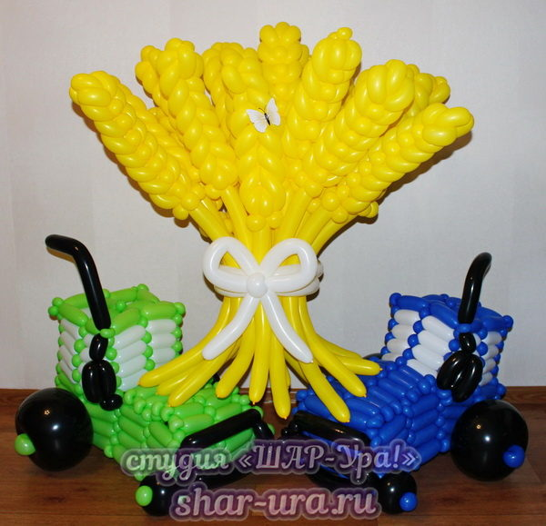 трактор из шаров