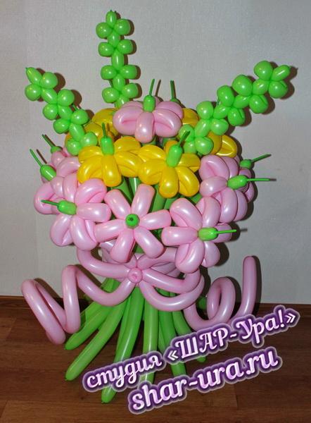 букет из шаров ромашек