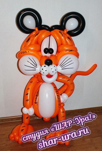 тигр из шаров