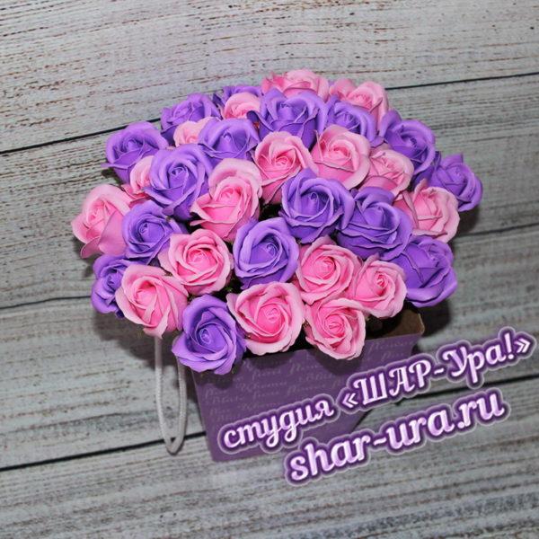 цветы из мыльных роз