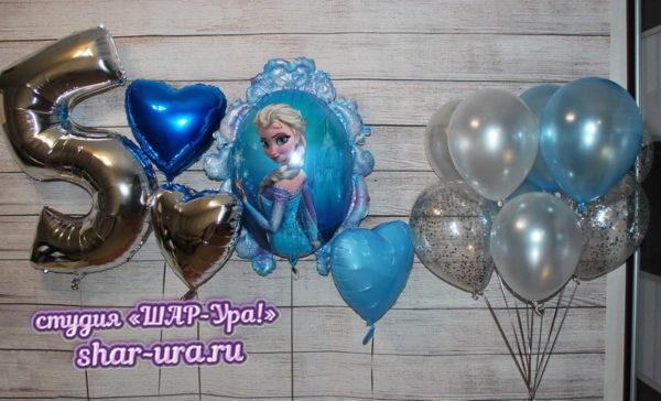 бело-голубые шары