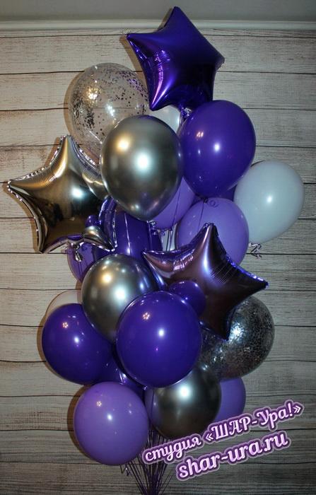 фиолетовые шар