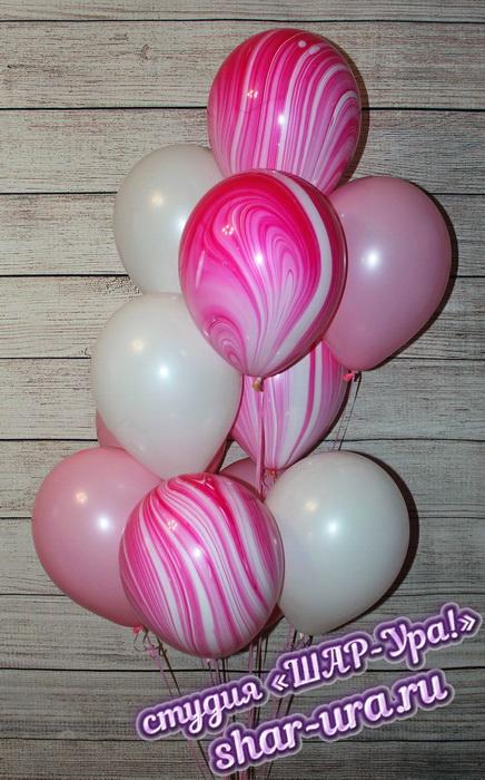 розовые агаты шары