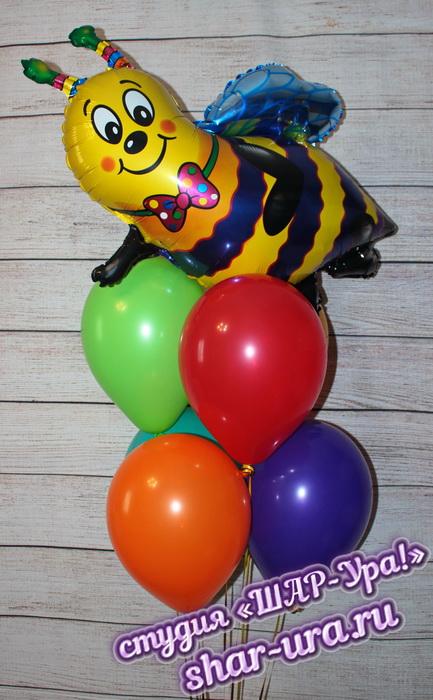 шары яркие с пчелой