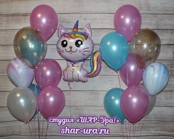 шары для девочки с кошечкой