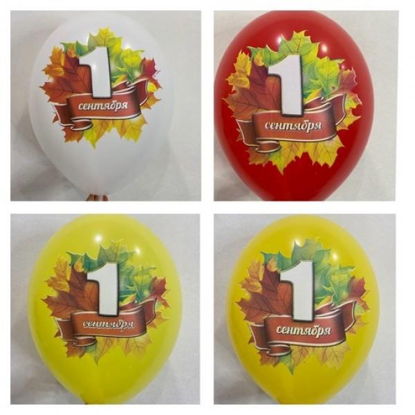 шары 1 сентября с цветной печатью